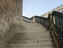 Les escaliers du temps passé Photo libre de droits