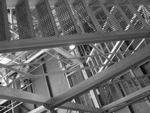 Les escaliers en métal Photos stock