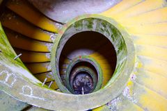 Les escaliers ont abandonné l'hôtel Açores Image libre de droits