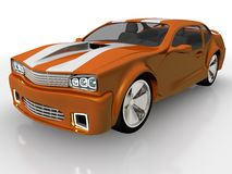 Les ESPÈCES de l'orange 3 dirigent le chemin compris pour cultiver facilement à l'extérieur le véhicule du fond Images stock