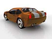 Les ESPÈCES de l'orange 3 dirigent le chemin compris pour cultiver facilement à l'extérieur le véhicule du fond Photo libre de droits