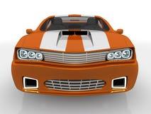 Les ESPÈCES de l'orange 3 dirigent le chemin compris pour cultiver facilement à l'extérieur le véhicule du fond Images libres de droits
