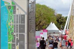 Les espaces verts du sud de banque - Australie de Brisbane Images libres de droits