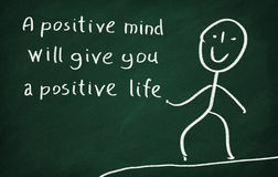 Les esprits positifs te donneront une vie positive Images libres de droits