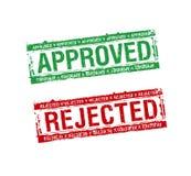 Les estampilles ont reconnu et ont rejeté illustration libre de droits