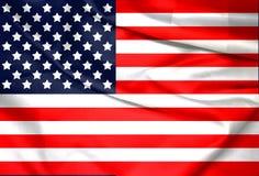 Les Etats-Unis, Amérique, textile patriotique uni de fond national de pays de symbole de drapeau Photo stock