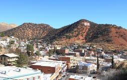 Les Etats-Unis, Arizona/Bisbee : Paysage urbain de Bisbee historique images libres de droits