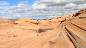 Les Etats-Unis, Arizona/buttes de coyote : En second lieu VAGUE Photos libres de droits