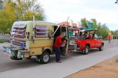 Les Etats-Unis, Arizona : Exposition mobile d'astrophotography Photos stock