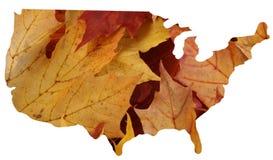 Les Etats-Unis + automne Image libre de droits