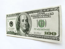 Les Etats-Unis cent billet d'un dollar avec Ben Franklin Portrait Photographie stock