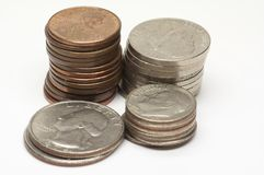 Les Etats-Unis - Cents - 1 photos stock