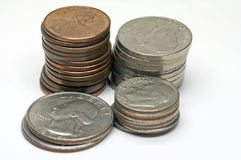 Les Etats-Unis - Cents - 2 photo stock