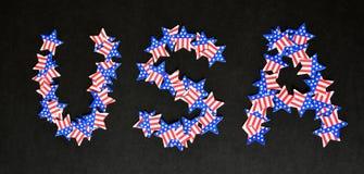 Les Etats-Unis décorés des étoiles de drapeaux américains Images libres de droits