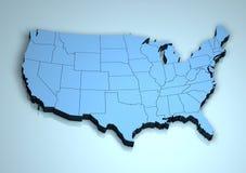 Les Etats-Unis 3d Image stock