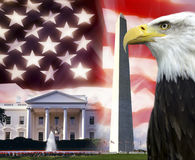 Les Etats-Unis d'Amérique - symboles patriotiques Images stock