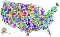 Les Etats-Unis dans une mosaïque de couleur Photos stock