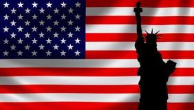 Les Etats-Unis diminuent avec Madame Liberty illustration de vecteur