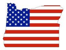 Les Etats-Unis diminuent combiné avec la carte de l'État fédéral des USA de l'Orégon illustration de vecteur