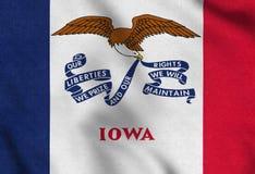 Les Etats-Unis diminuent de l'Iowa ondulant doucement dans le vent illustration de vecteur