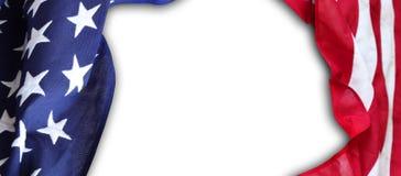 Les Etats-Unis diminuent sur le blanc Images libres de droits