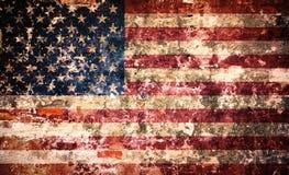 Les Etats-Unis diminuent sur le mur de peinture d'épluchage Photos stock