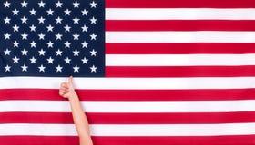 Les Etats-Unis diminuent symbole américain Fond de grunge de l'indépendance Day Photographie stock libre de droits
