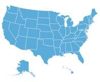 Les Etats-Unis dirigent la carte Photographie stock libre de droits