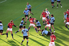 Les Etats-Unis Eagles contre le jeu de rugby national de l'Uruguay images stock