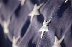 Les Etats-Unis en tant qu'étoiles sur le drapeau Images libres de droits
