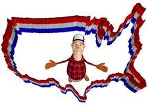 Les Etats-Unis encadrent, et plouc Photo libre de droits