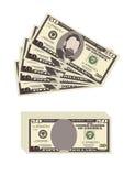 Les Etats-Unis encaissant la devise, symbole d'argent liquide 50 billet d'un dollar Photo libre de droits