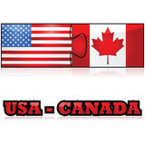 Les Etats-Unis et Canada illustration stock