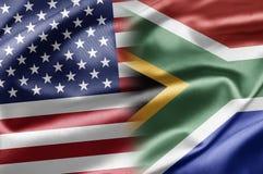 Les Etats-Unis et l'Afrique du Sud Photographie stock libre de droits