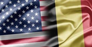 Les Etats-Unis et la Belgique Photos libres de droits