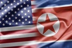 Les Etats-Unis et la Corée du Nord Images libres de droits
