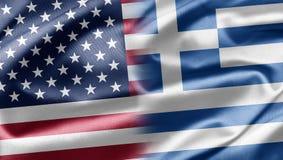 Les Etats-Unis et la Grèce Photo libre de droits