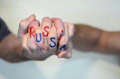 Les Etats-Unis et la Russie Image libre de droits