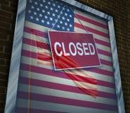 Les Etats-Unis fermés Images stock