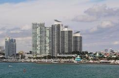 Les Etats-Unis, FloridaMiami - côte atlantique Image libre de droits
