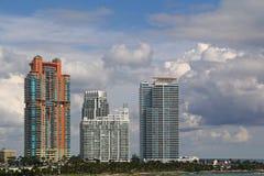 Les Etats-Unis, FloridaMiami - côte atlantique Images libres de droits