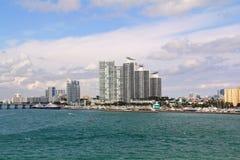 Les Etats-Unis, FloridaMiami - côte atlantique Photos stock