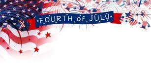 Les Etats-Unis Jour de la Déclaration d'Indépendance du 4 juillet Photo libre de droits