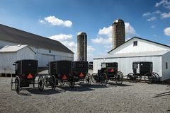 LES Etats-Unis - L'Ohio - Amish image stock