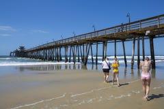 LES Etats-Unis - La Californie - San Diego - pilier impérial de plage photographie stock