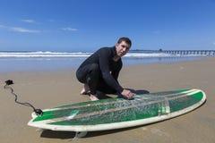 LES Etats-Unis - La Californie - San Diego - pilier impérial de plage photo stock