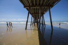 LES Etats-Unis - La Californie - San Diego - pilier impérial de plage photo libre de droits
