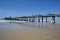 LES Etats-Unis - La Californie - San Diego - pilier impérial de plage photos stock