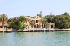 Les Etats-Unis, la Floride/Miami : Chambre luxueuse de bord de mer Photos stock