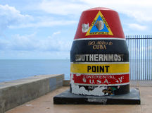 Les Etats-Unis les plus les plus au sud photographie stock libre de droits